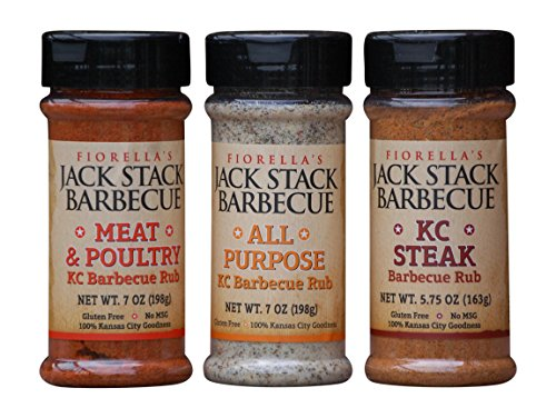 City Stack - Fiorellas Jack Stack Barbecur Rub Bundle: 1 Jack Stack Meat & Poultry Barbecue Rub 7 Oz, 1 Jack Stack All Purpose Barbecue Rub 7 Oz, 1 Jack Stack Kc Steak Barbecue Rub 5.75 Oz