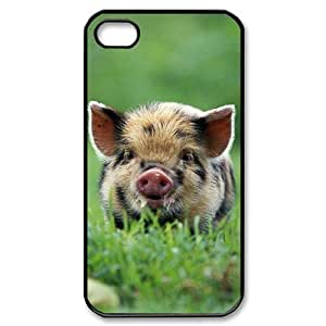 S-ADFG Customized Print Cute Pig Pattern Back Case for iPhone 4/4S