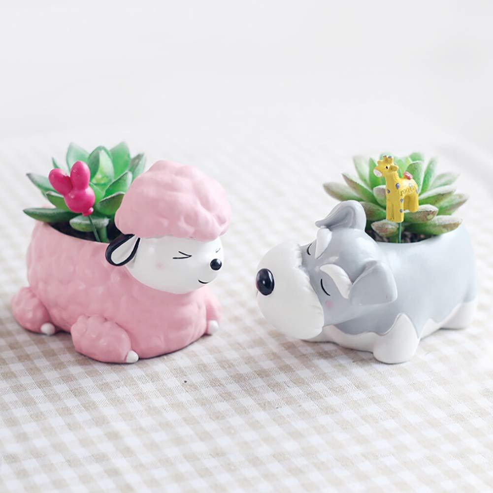 Artbro Panda Pot de Fleurs artificiels en r/ésine Baumstumpf 1