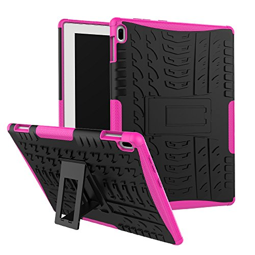 Maomi Lenovo Tab 4 10 Case (TB-X304F/N),[Kickstand Feature],Shock-Absorption/High Impact Resistant Heavy Duty Armor Defender Case for Lenovo Tab 4 10.1 inch 2017 Tablet X304F/N (Pink)