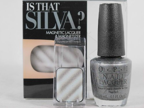 OPI SKYFALL 007 IS THAT SILVA? HOLOGRAPHIC MAGNETIC LACQUER & MAGNETIZER