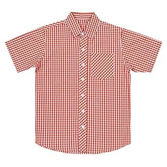 Orange Cotton Shirt Neck Shirts For Boys