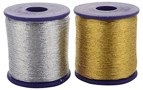 (GOELX Zari Threads Golden and Silver,for Beading-Jewellery Making/Decorations/Crafts, Pack of)