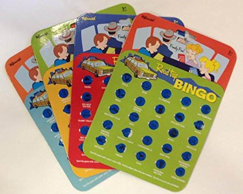 Travel Bingo Cards, Set of 4 Bingo Cards for Road Trips, Vacations