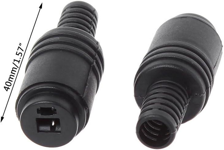 Buwei 10 pi/èces Prise de Haut-Parleur DIN 2 Broches Prise 2 Broches c/âble de Haut-Parleur HiFi connecteur /à souder