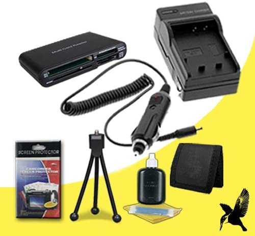 Multi Card USB Reader Memory Card Wallet Deluxe Starter Kit for Nikon D70S 6.1 Megapixel Digital SLR Camera and Nikon EN-EL3E Halcyon Brand 600 mAH Charger with Car Charger Attachment Kit