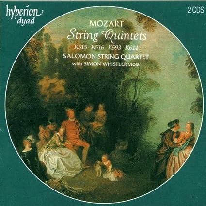 Mozart: String Quintets by Salomon Quartet, Simon Whistler (2000) Audio CD