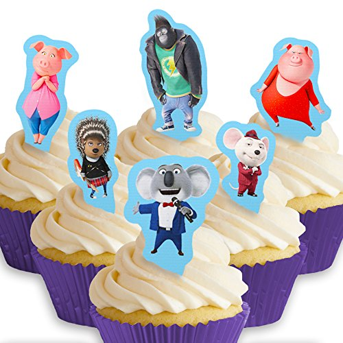 Cakeshop 12 x PRE-CUT Sing Stand Up Edible Cake Toppers -