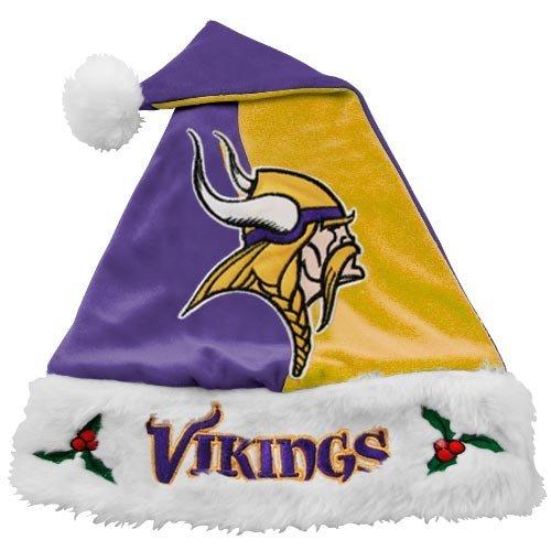 Viking Plush Hat (Minnesota Vikings NFL Colorblock Plush Santa Hat)
