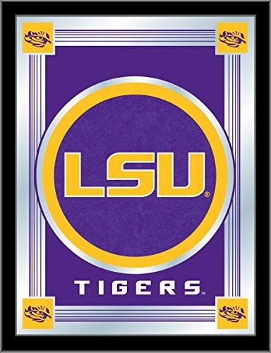 Holland Bar Stool Co. LSU Tigers Collector Purple Logo Mirror (17