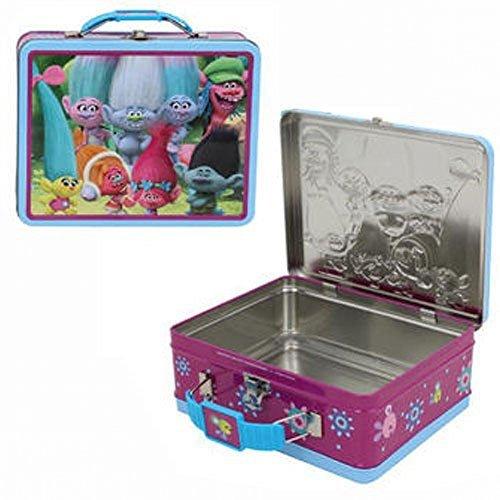 Friends Tin Box - Dreamworks Trolls Princess Poppy and Friends Storage Tin Lunch Bag Box (Poppy&Friends)