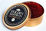 Golden Saffron, Finest Premium Persian All Red Saffron, Grade A+, Highest Grade 50 Grams (1.79 OZ)