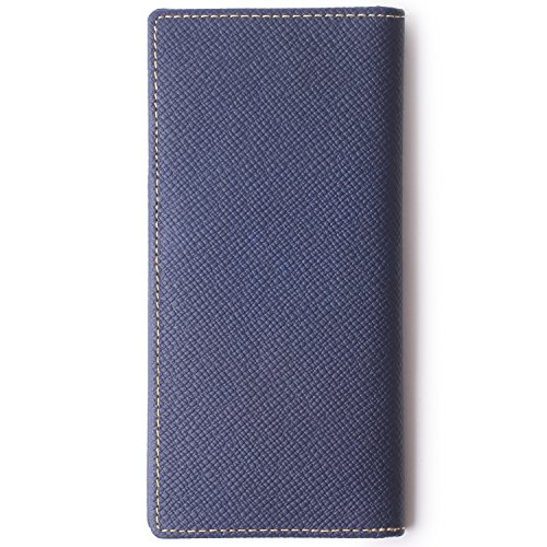 Genuine Leather Checkbook Cover For Men & Women - Checkbook Covers with Card Holder Wallet RFID Blocking (Blue) by Borgasets (Image #6)