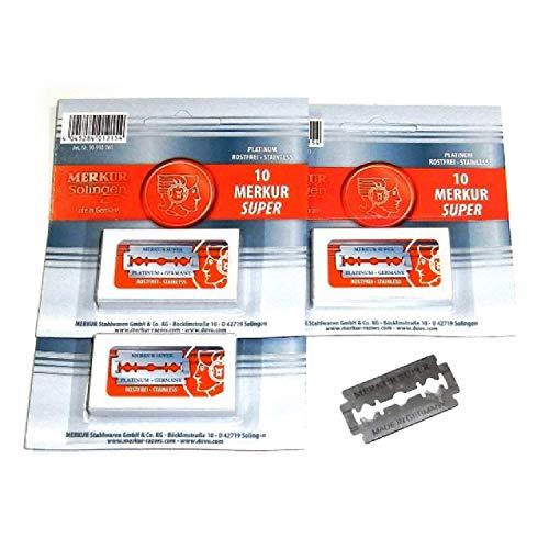 Merkur Super Platinum Blades for All Standard Double Edge Safety Razors, 3 count