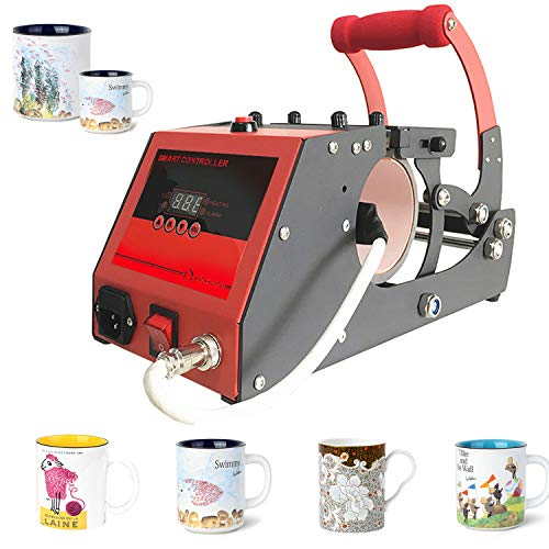 Heat Transfer Sublimation Cup Mug Heat Press Transfer Printing Machine for Coffee Mugs Cups with One Stainless Steel Mug Attachment 11OZ O BOSSTOP