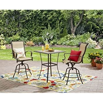 Amazon Com 3 Pc High Top Bistro Table Chairs Set