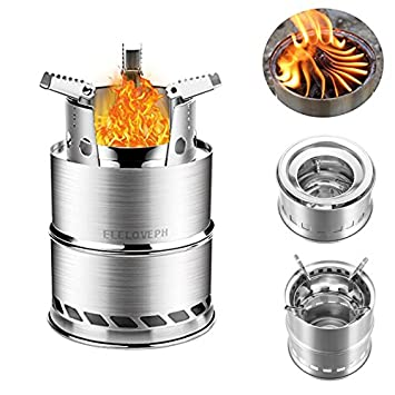 LaDicha Quema De Leña Portátil Cocina Estufa Plegable De Acero Inoxidable Alcohol Horno De Cocina Al Aire Libre: Amazon.es: Hogar