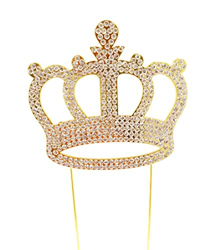 Luxury Gold Crown Cake Topper For Anniversary, Birthday Party & Wedding. Shine & Sparkles. BEST OFFER ON AMAZON.