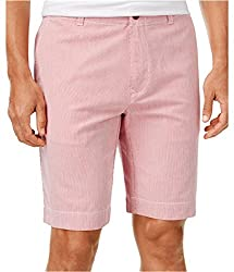 Tommy Hilfiger Mens Paul Pincord Stripe Casual Walking Shorts peacoat 38