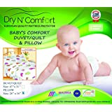 Baby Crib Comfort Pillow - Size 24''x16''- Dry N Comfort - European Premium Quality Super Soft Hypoallergenic - 5 Years Warranty