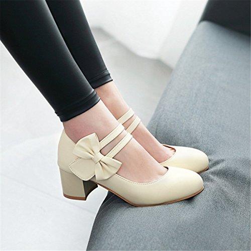 Del Salvaje Con Vista Zapatillas El Negrita En Sandalias Número De ranurados Moda Zapatos Mujer Beige Solo Gran nxqOqSCYw