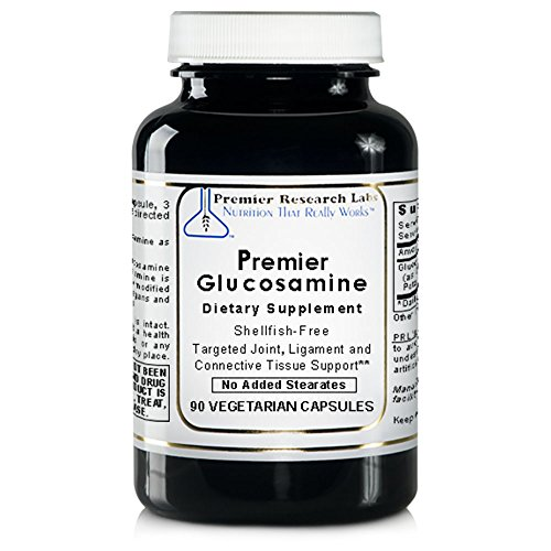 - Premier Glucosamine, 90 Capsules, Vegan Product - Shellfish-free, Targeted Joint, Ligament and Connective Tissue Support