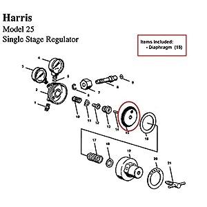 Diaphragm Only for Harris 25 & 29 Series Regulator, Part# 9100146