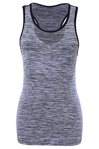 Senza Sundried di della Italia Top di Ginnastica Grey in Fatta Respirabile Maglia Giunte Sport Donne Yoga Leggero gqrgxBP