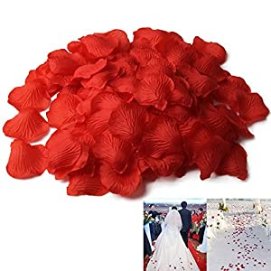 chinatera 500 Pcs Silk Rose Petals Wedding Flower Decoration 22