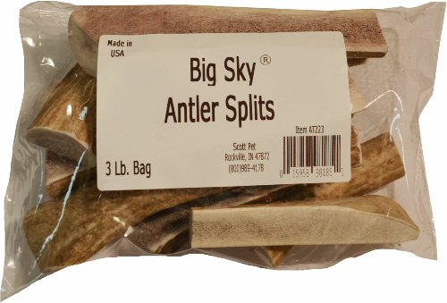 Big Sky Antler Chews Splits 3lb by Big Sky