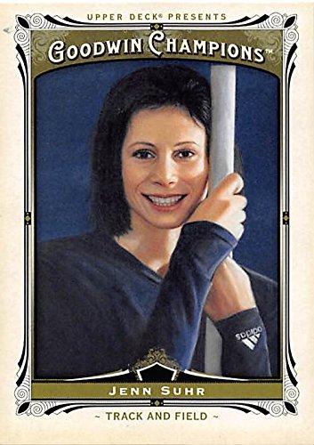 Jenn Suhr trading card (Track & Field, Pole Vault) 2013 Upper Deck Goodwin Champions #43 (Vault Champion Pole)