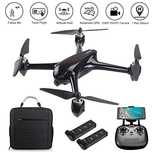 LOHOME JJRC X8 RC Quadcopter - 2.4GHz 6-Axis Gyro 1080P HD 5G WiFi Camera FPV Remote Control Drone with GPS, Altitude Hold, Headless Mode, Follow Me, Return Home, 2 Batteries, 1 Backpack as MJX B2SE ()