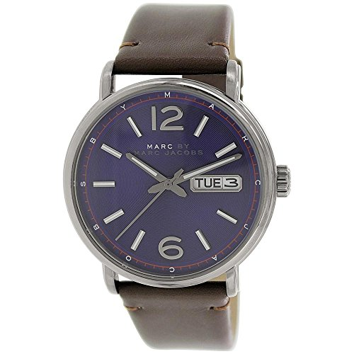 Marc by Marc Jacobs Men's Fergus 42MM Watch, Brown/Mineral Blue, One Size