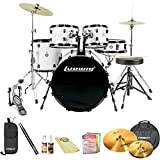 Ludwig Accent Fuse 5-Pc Fusion Size Drum Set with Zildjian Cymbals & ChromaCast Accessories, White