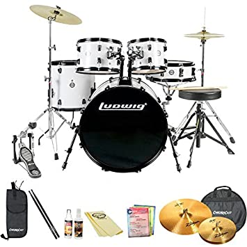 Amazon Com Ludwig Accent Fuse 5 Pc Fusion Size Drum Set With