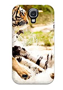 New Fashionable CaseyKBrown PVziRog4025ZytWL Cover Case Specially Made For Galaxy S4(tigers Playing)