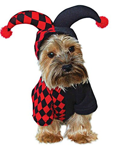 Buttons The Clown Costumes (OSPet Funny Pet Hooded Clown Costume for Small Dogs & Cats Halloween Party Cosplay…)