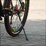 Cyfie 自転車 サイドスタンド ロードバイク マウンテンバイク スタンド 軽量 汎用 22-41 長さ調節可能 アルミ合金製 片足 ブラック