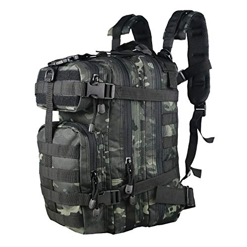 - X&X Mini Tactical Backpack Hydration Pack Small Assault Rucksack 30L Molle System with Laptop Compartment Expandable (Bladder no Included)