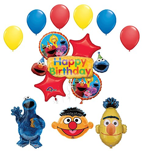 - Bert, Ernie and Cookie Monster Birthday Party Supplies and Balloon Bouquet Decorations