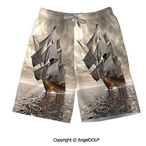 - AngelDOU Men Board Shorts Bathing Suit,Music Decor,Musical Notes Instrument Viol