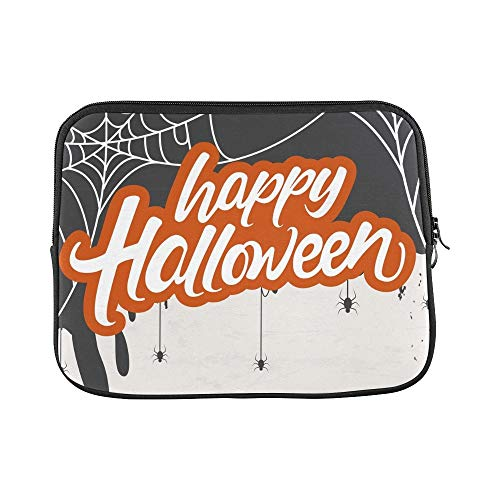 Design Custom Creative Scary Halloween Celebration Happy Sleeve Soft Laptop Case Bag Pouch Skin for MacBook Air 11