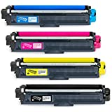 EBBO TN221 TN225 Compatible Toner Cartridges replacement for Brother TN221 TN225 TN-221 TN-225, High Yield 1 Set, Used in Brother HL-3170CDW HL-3140CW HL-3180CDW MFC-9130CW MFC-9330CDW MFC-9340CDW