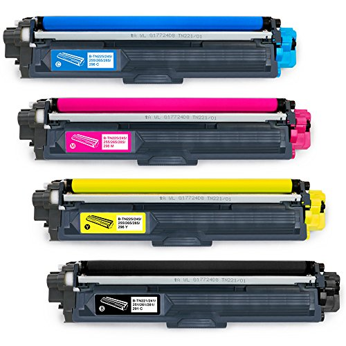 EBBO TN221 TN225 Compatible Toner Cartridges replacement for Brother TN221 TN225 TN-221 TN-225 - High Yield 1 Set - Used in Brother HL-3170CDW HL-3140CW HL-3180CDW MFC-9130CW MFC-9330CDW MFC-9340CDW