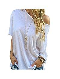Zmike Women Summer Short Sleeve Blouse Casual Tops T-Shirt