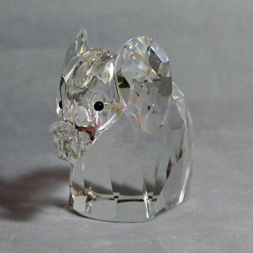 Swarovski Crystal Elephant - Swarovski Crystal Silver Elephant Figurine, 010015