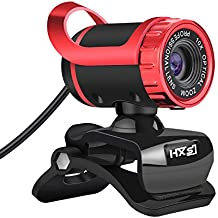 HXSJ Webcam 480P HD LG-68 Skype Web Camera Night vision HD with Microphone USB Plug and Play Web Cam Callling Recording for PC Computer Laptop for Mac Windows XP / 7 / 8 / 10/and Mac OS