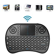 Bestdeal® 2.4GHz Mini Mobile Wireless Keyboard with Touchpad Mouse, Rechargable Li-ion Battery for Samsung Smart TV UE65JS9500 & UE60JU6400 & UE75JU6400