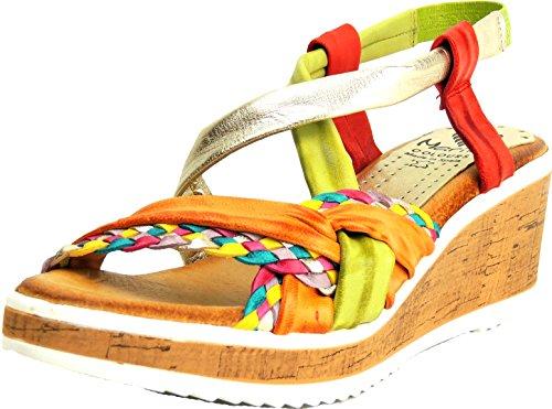 c2f0b76b4af878 Marila Damen Sandalette Komplett Leder Plateau multicolor2 ...