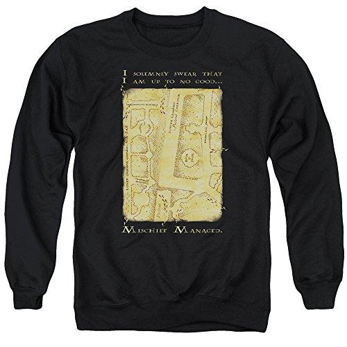 Crewneck Sweatshirt: Harry Potter- Marauder's Map Mischief Managed Size S